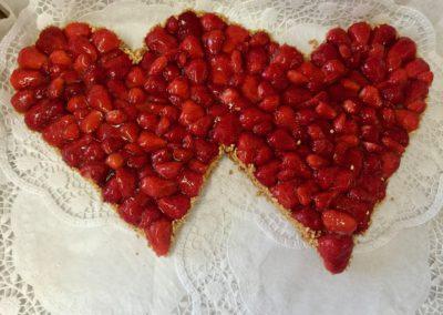 Hochzeitstorte Doppelherz Erdbeer