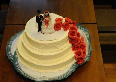 Hochzeitstorte Eistorte Rosen