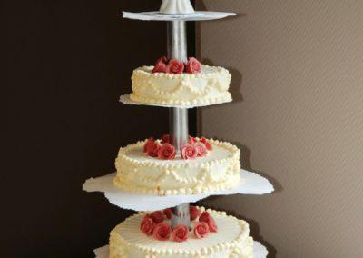 Hochzeitstorte Eistorte Zuckerrosen