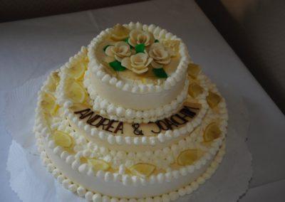 Hochzeitstorte Zitronensahne