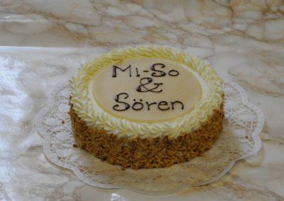 Hochzeitstorte oberste Torte Mi-So & Sören