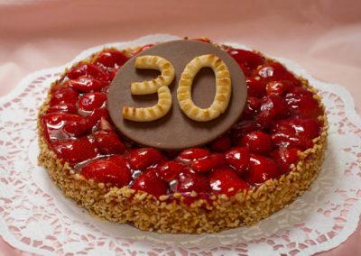 Erdbeertorte zum 30. Geburtstag